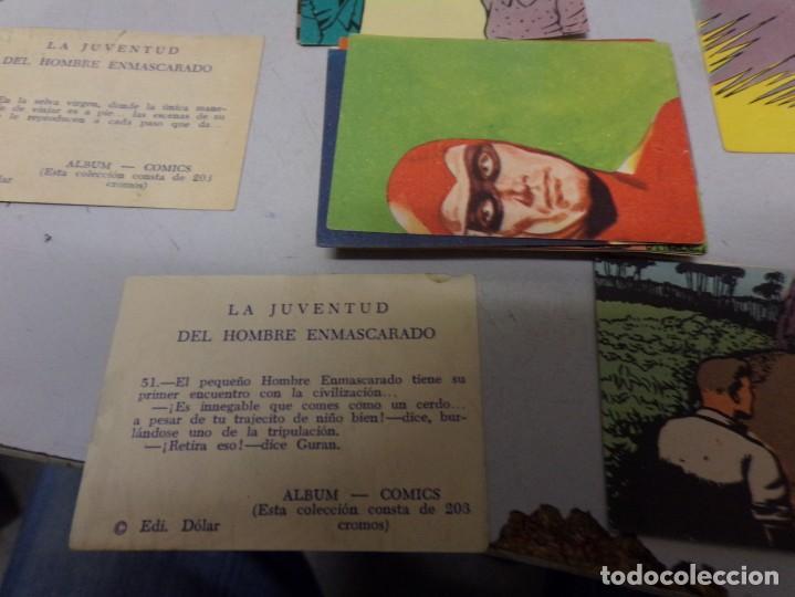Coleccionismo Cromos antiguos: lote 50 cromos la juventud del hombre enmascarado editorial dolar muy buen estado - Foto 2 - 222431375