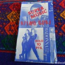 Coleccionismo Cromos antiguos: SOBRE VACÍO SUPER MUSIC RITMO GUAI CON MADONNA FREDDIE MERCURY HOMBRES G DON JOHNSON. RARO.. Lote 222461921