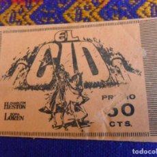 Coleccionismo Cromos antiguos: SOBRE VACÍO EL CID. EDITORIAL FHER 1962. DIFÍCIL.. Lote 222462763
