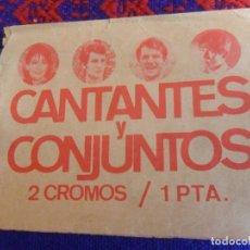 Coleccionismo Cromos antiguos: SOBRE VACÍO CANTANTES Y CONJUNTOS. EDICIONES ESTE 1967. DIFÍCIL.. Lote 222463195