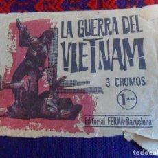 Coleccionismo Cromos antiguos: SOBRE VACÍO LA GUERRA DEL VIETNAM DE FERMA 1966. REGALO CURIOSIDADES Y MISTERIOS DE FERMA 1965. RARO. Lote 222464730