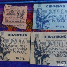 Coleccionismo Cromos antiguos: 3 SOBRE VACÍO DISTINTO ESPÍA ARMAS DE LA 2ª GUERRA MUNDIAL. MAGA. REGALO ARMAS Y SOLDADOS.. Lote 222465826