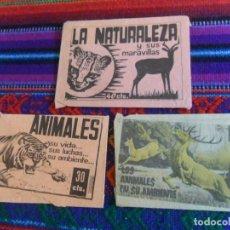 Coleccionismo Cromos antiguos: SOBRE VACÍO LA NATURALEZA Y SUS MARAVILLAS, LOS ANIMALES EN SU AMBIENTE, SU VIDA SUS LUCHAS. FHER.. Lote 222466695