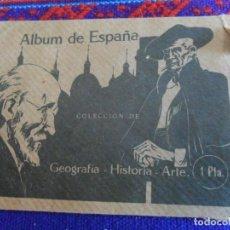 Coleccionismo Cromos antiguos: SOBRE VACÍO ALBUM DE ESPAÑA COLECCIÓN DE GEOGRAFÍA HISTORIA ARTE. 1 PTA. BUEN ESTADO Y RARO.. Lote 222468896