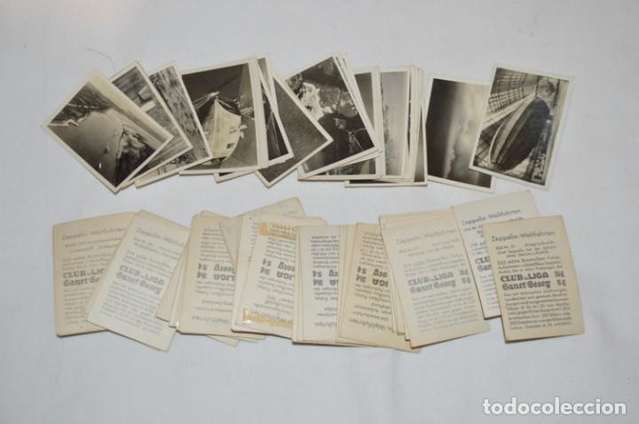 Coleccionismo Cromos antiguos: ZEPPELIN-Weltfahrten / Lote antiguo de 60 cromos alemanes - Dirigibles Zeppelín / Años 30 - Lote 04 - Foto 5 - 222708846