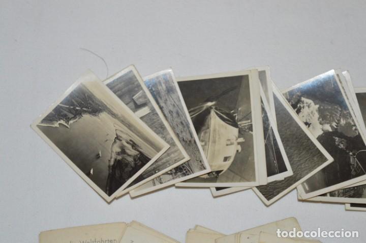 Coleccionismo Cromos antiguos: ZEPPELIN-Weltfahrten / Lote antiguo de 60 cromos alemanes - Dirigibles Zeppelín / Años 30 - Lote 04 - Foto 6 - 222708846