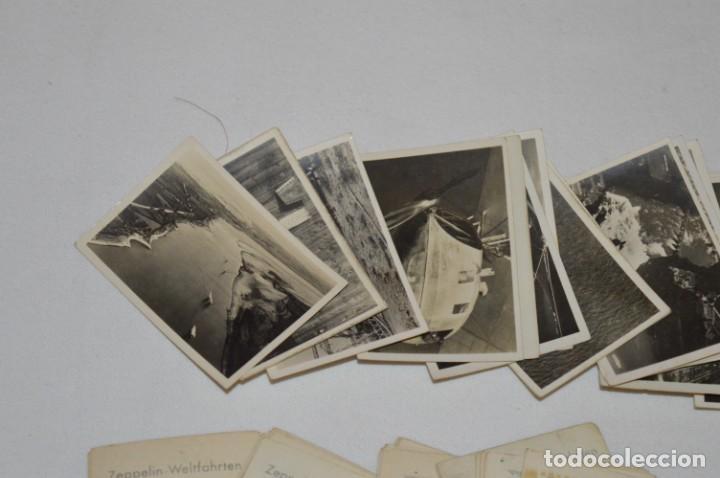 Coleccionismo Cromos antiguos: ZEPPELIN-Weltfahrten / Lote antiguo de 60 cromos alemanes - Dirigibles Zeppelín / Años 30 - Lote 04 - Foto 7 - 222708846