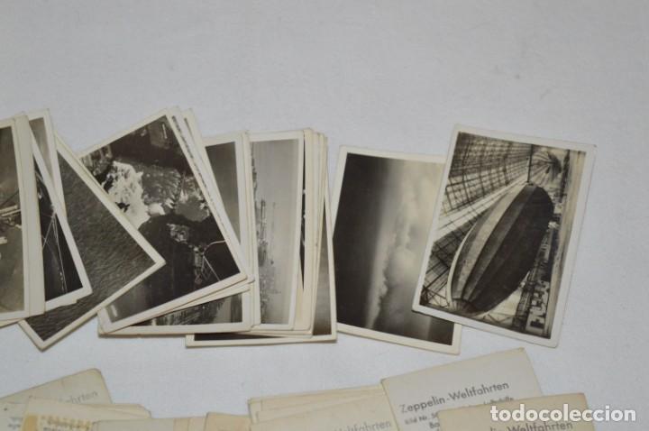Coleccionismo Cromos antiguos: ZEPPELIN-Weltfahrten / Lote antiguo de 60 cromos alemanes - Dirigibles Zeppelín / Años 30 - Lote 04 - Foto 8 - 222708846