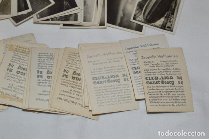Coleccionismo Cromos antiguos: ZEPPELIN-Weltfahrten / Lote antiguo de 60 cromos alemanes - Dirigibles Zeppelín / Años 30 - Lote 04 - Foto 10 - 222708846