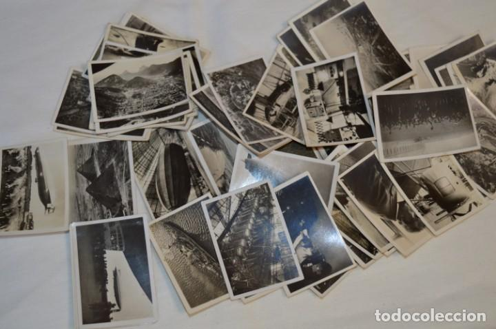 Coleccionismo Cromos antiguos: ZEPPELIN-Weltfahrten / Lote antiguo de 60 cromos alemanes - Dirigibles Zeppelín / Años 30 - Lote 04 - Foto 3 - 222708846