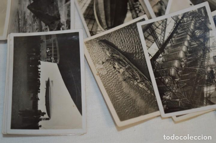 Coleccionismo Cromos antiguos: ZEPPELIN-Weltfahrten / Lote antiguo de 60 cromos alemanes - Dirigibles Zeppelín / Años 30 - Lote 04 - Foto 12 - 222708846