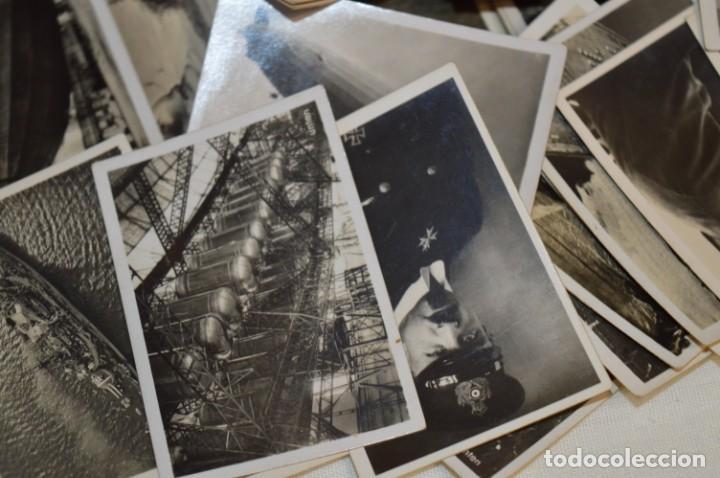 Coleccionismo Cromos antiguos: ZEPPELIN-Weltfahrten / Lote antiguo de 60 cromos alemanes - Dirigibles Zeppelín / Años 30 - Lote 04 - Foto 13 - 222708846