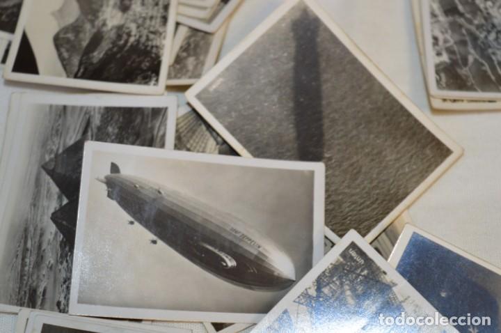 Coleccionismo Cromos antiguos: ZEPPELIN-Weltfahrten / Lote antiguo de 60 cromos alemanes - Dirigibles Zeppelín / Años 30 - Lote 04 - Foto 17 - 222708846