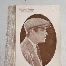 Coleccionismo Cromos antiguos: CROMOS LA NOVELA SEMANAL CINEMATOGRAFICA 48 CROMOS DIFERENTES EN BUEN ESTADO. Lote 222833188