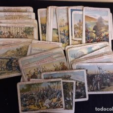 Coleccionismo Cromos antiguos: LOTE 89 CROMOS DE CHOCOLATES DE LA GUERRA EUROPEA, SE PUEDEN VENDER SUELTOS. Lote 223579315