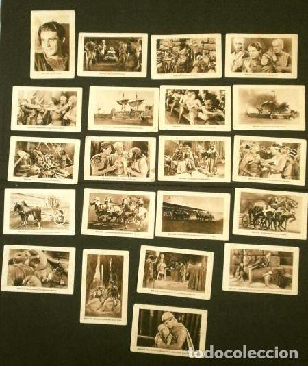 BEN HUR - SERIE COMPLETA COLECCION DE 21 CROMOS - BEN-HUR FILM USA MUDO 1925 - CHOCOLATES JUNCOSA (Coleccionismo - Cromos y Álbumes - Cromos Antiguos)