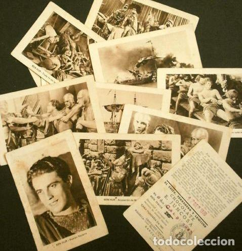 Coleccionismo Cromos antiguos: BEN HUR - SERIE COMPLETA COLECCION DE 21 CROMOS - BEN-HUR FILM USA MUDO 1925 - CHOCOLATES JUNCOSA - Foto 2 - 224094828