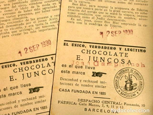 Coleccionismo Cromos antiguos: BEN HUR - SERIE COMPLETA COLECCION DE 21 CROMOS - BEN-HUR FILM USA MUDO 1925 - CHOCOLATES JUNCOSA - Foto 4 - 224094828