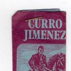 Coleccionismo Cromos antiguos: CURRO JIMENEZ SOBRE SIN ABRIR, CROMOS EDICCIONES SURESTE LA RAYA MURCIA. Lote 224139022