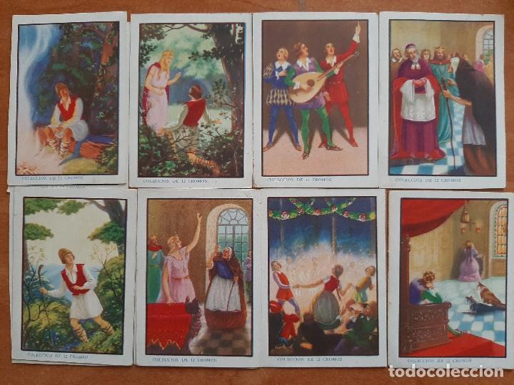CROMOS ANTIGUOS : LA PRINCESA AURORA - COMPLETA 12 CROMOS (Coleccionismo - Cromos y Álbumes - Cromos Antiguos)