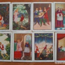 Coleccionismo Cromos antiguos: CROMOS ANTIGUOS : LA PRINCESA AURORA - COMPLETA 12 CROMOS. Lote 224275158