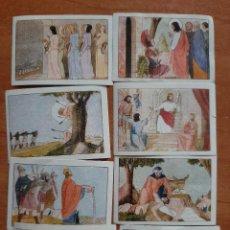 Coleccionismo Cromos antiguos: CROMOS ANTIGUOS : ALBUM CATECISME - VIRTUTS TEOLOGALS : 8 CROMOS / EN CATALÁN. Lote 224690857