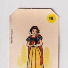 Coleccionismo Cromos antiguos: CROMO BIMBO PANRICO PLASTICROMO N°16 BLANCANIEVES LOS AMIGOS DE MICKEY 1979 SERIE CORTADO PARTE ALTA. Lote 224954297