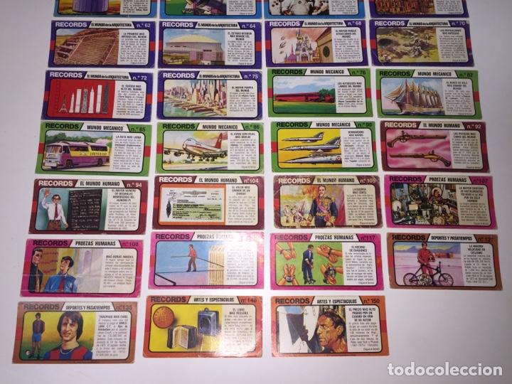 Coleccionismo Cromos antiguos: BIMBO LOS RÉCORDS DEL MUNDO 47 UNIDADES - Foto 3 - 225196240