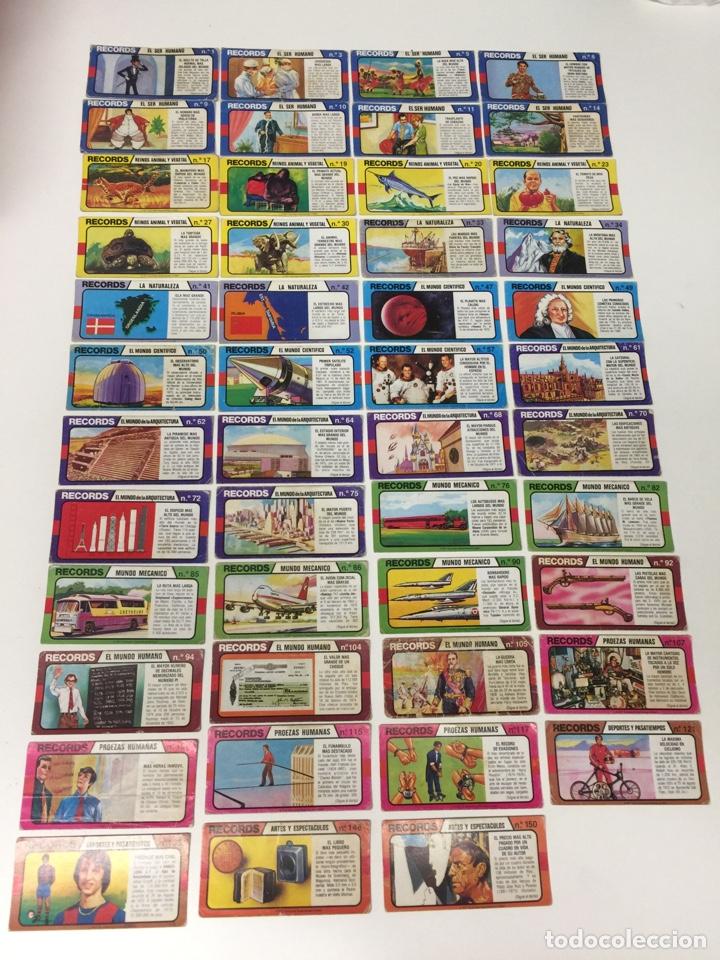 BIMBO LOS RÉCORDS DEL MUNDO 47 UNIDADES (Coleccionismo - Cromos y Álbumes - Cromos Antiguos)