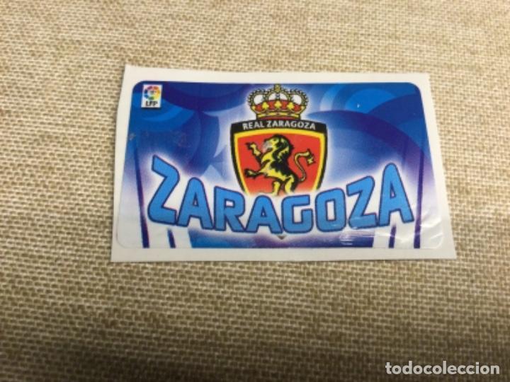 ZARAGOZA - ESCUDOS - CROMO CHICLES LIGA ESTE 2010 / 11( RECUPERADO ) (Coleccionismo - Cromos y Álbumes - Cromos Antiguos)