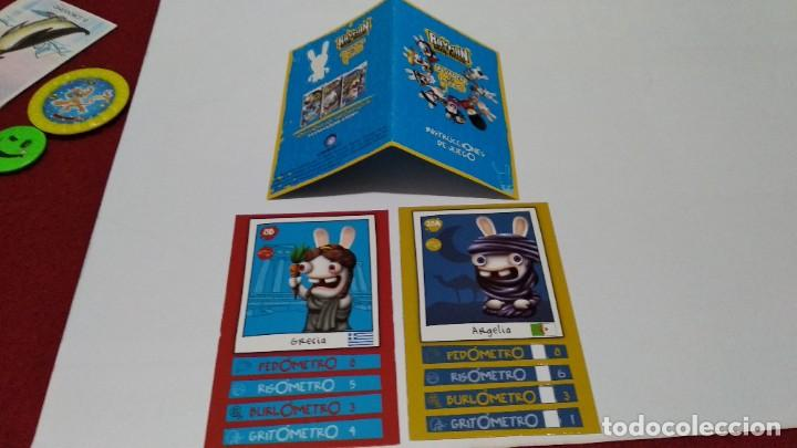 LOTE RAYMAN RAVING RABBIDS. INVADEN EL MUNDO. INSTRUCCIONES DEL JUEGO + 2 CROMOS - 2008 (Coleccionismo - Cromos y Álbumes - Cromos Antiguos)