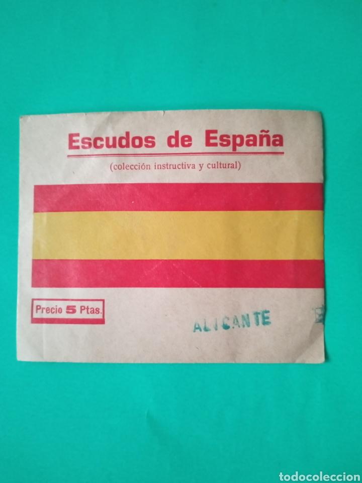 ALICANTE CROMO SOBRE SIN ABRIR ESCUDOS DE ESPAÑA - MUY RARO (Coleccionismo - Cromos y Álbumes - Cromos Antiguos)