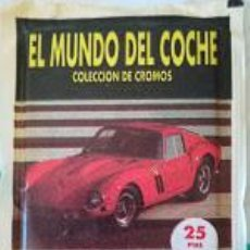 Collectionnisme Cartes à collectionner anciennes: SOBRE DE CROMOS SIN ABRIR DEL ALBUM EL MUNDO DEL COCHE. Lote 227832520