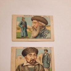 Coleccionismo Cromos antiguos: HISTORIA NATURAL / CHOCOLATE JUNCOSA Nº 181 CAUCASO Y 182 KIRGUIS. Lote 228212470