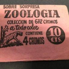 Coleccionismo Cromos antiguos: SOBRE CON CROMOS ZOOLOGIA. Lote 228320200