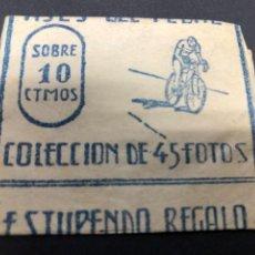 Coleccionismo Cromos antiguos: SOBRE CON CROMOS ASES DEL PEDAL EDICIONES COSTA. Lote 228320370