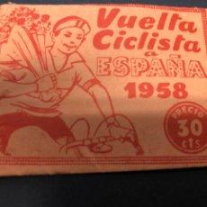 Coleccionismo Cromos antiguos: SOBRE SIN CROMOS VUELTA CICLISTA A ESPAÑA 1958 EDITORIAL FHER. Lote 228320760