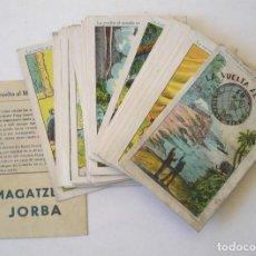 Coleccionismo Cromos antiguos: LA VUELTA AL MUNDO EN OCHENTA DIAS, COMPLETA 42 CROMOS. MAGATZEMS JORBA MANRESA. Lote 229350835