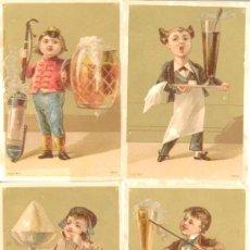 Coleccionismo Cromos antiguos: CAMAREROS SERIE INFANTIL 6 CROMOS AÑOS 20. Lote 229352110