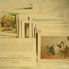 Coleccionismo Cromos antiguos: DON QUIJOTE DE LA MANCHA 25 CROMOS DE CHOCOLATES JUNCOSA, LISTA PUBLICADA. Lote 229352710
