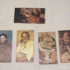 Coleccionismo Cromos antiguos: 5 TICKET BÁSCULA PABLO PICASSO, SERIE PINTORES CONCESIONARIS DAVI I CIA, SL BCN. Lote 229353190