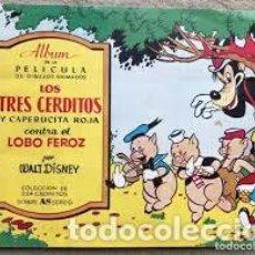 Coleccionismo Cromos antiguos: LOS TRES CERDITOS Y CAPERUCITA ROJA CONTRA EL LOBO FEROZ BRUGUERA CROMOS SUELTOS A 1,50 EUROS. Lote 229735720