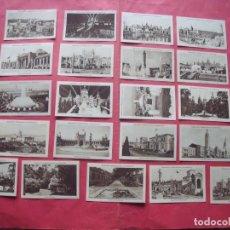 Coleccionismo Cromos antiguos: EXPOSICION INTERNACIONAL DE BARCELONA.-CROMOS.-COLECCION COMPLETA.-LOTE 21 CROMOS.-AÑO 1929.. Lote 231024800