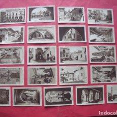 Coleccionismo Cromos antiguos: EXPOSICION INTERNACIONAL DE BARCELONA.-PUEBLO ESPAÑOL.-CROMOS.-COMPLETA.-LOTE 21 CROMOS.-AÑO 1929.. Lote 231025095
