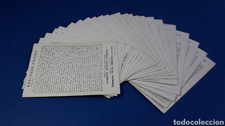 Coleccionismo Cromos antiguos: Robinson Crusoe, colección completa 24 cromos, Chocolates Juncosa, Barcelona, original años 40. - Foto 2 - 231080940