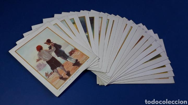 ROBINSON CRUSOE, COLECCIÓN COMPLETA 24 CROMOS, CHOCOLATES JUNCOSA, BARCELONA, ORIGINAL AÑOS 40. (Coleccionismo - Cromos y Álbumes - Cromos Antiguos)