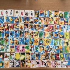 Coleccionismo Cromos antiguos: DRAGON BALL Z PANINI LOTE 150 CROMOS NUNCA PEGADOS TODOS DISTINTOS. Lote 295842183
