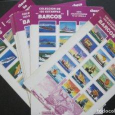 Collectionnisme Cartes à collectionner anciennes: BARCOS-COLECCION COMPLETA DE 120 CROMOS EN 8 LAMINAS-CHOCOLIN WONDER-VER FOTOS-(V-22.452). Lote 234974810