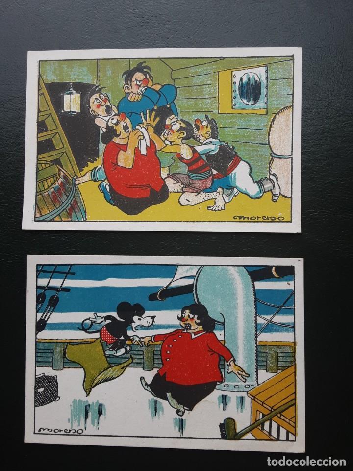 MICKEY MOUSE EL RATON AVENTURERO, 2 CROMOS, CHOCOLATES NOGUEROLES (Coleccionismo - Cromos y Álbumes - Cromos Antiguos)