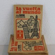 Coleccionismo Cromos antiguos: LOTE DE 59 SOBRES DE CROMOS SIN ABRIR DE LA VUELTA AL MUNDO EN 320 CROMOS. BRUGUERA 1971. Lote 236128540